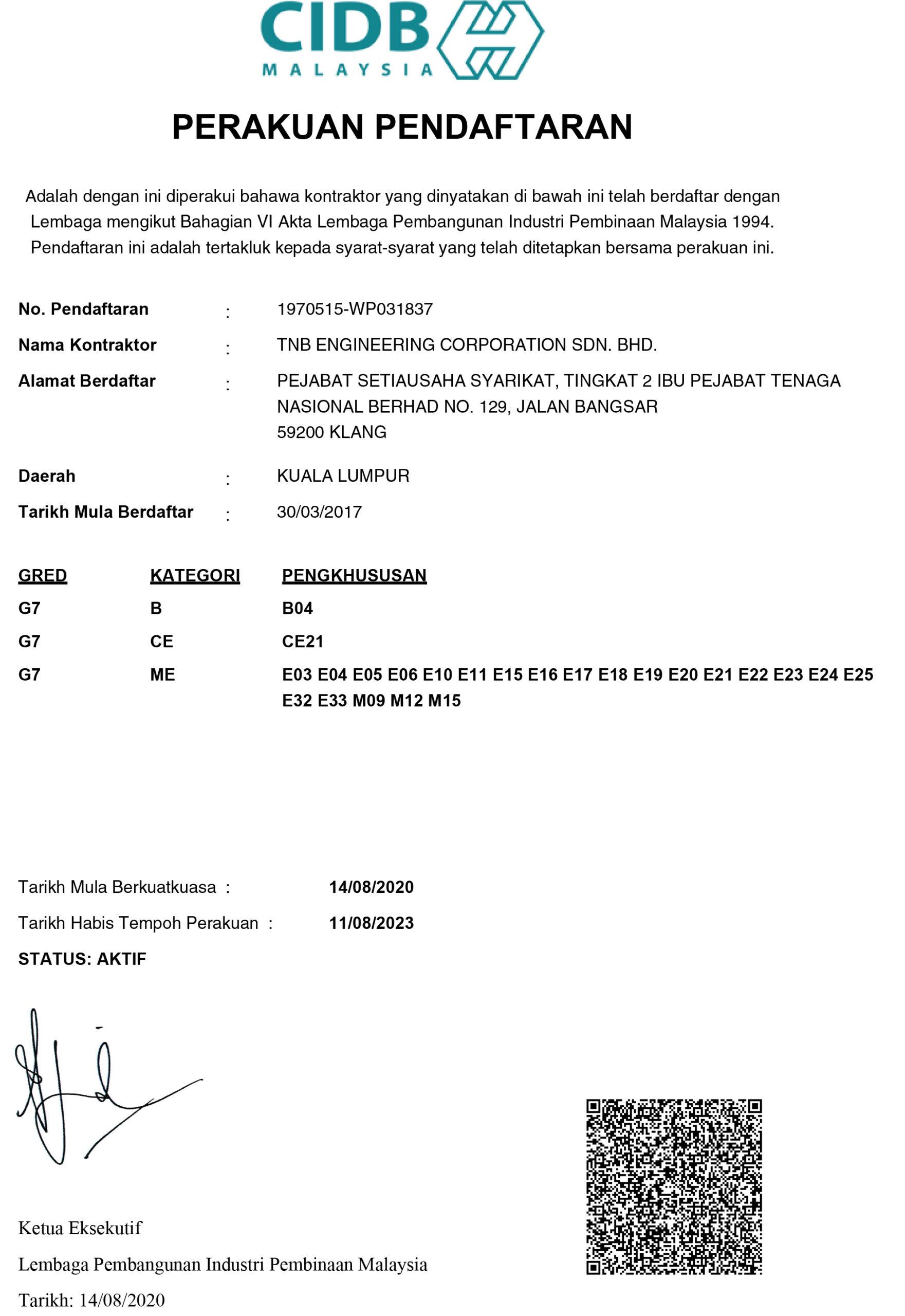 Perakuan Pendaftaran CIDB 2020_2023
